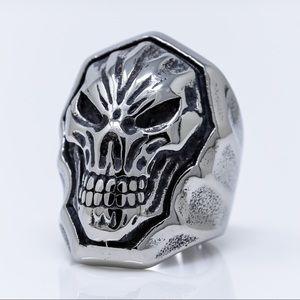 Face of Doom Biker Ring